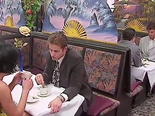 Rita Cardinale Gangbang And Bukkake In The Restaurant