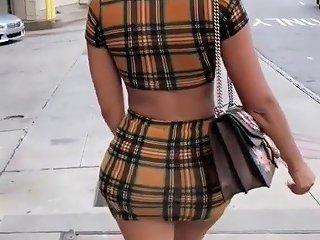 Hot Ebony Girl In Short Skirt Voyuer Hot Ass And Legs