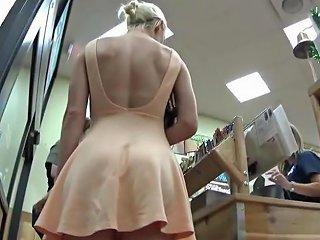 Under The Skirt Of Beautiful Blonde Txxx Com