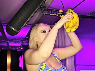 Nadia White Stuffs Her Hungry Holes With Very Ripe Bananas Drtuber
