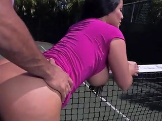 Huge Ass Kiara Mia Gets Pounded At A Tennis Court Porn 91