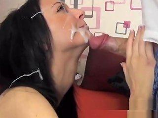 Hot German Amateur Brunette Cumface Compilation