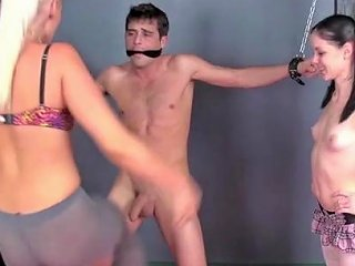 Enslaved Guy Gets Two Hotties To Fuck With