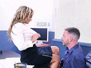 Sexy Business Woman Tucker Stevens Is Testing Her New Employee