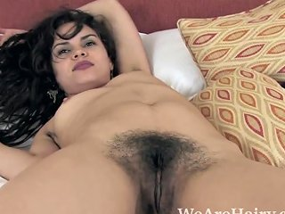 Sierra Strips Naked And Enjoys Her Hairy Body Free Porn 53
