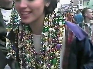 Hd Giving Time To Mardi Gras Tits Small To Average Size