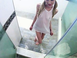 Thin Blonde Girl Piper Perri Gets Her Fresh Tight Pussy Poked Missionary Style