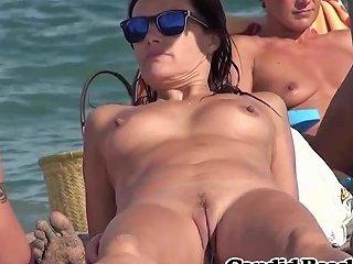 Shaved Pussy And Period String Nudist Milfs Beach Voyeur