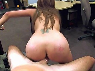 Busty Latina Split Apart With Dick On Pawn Shop Table