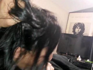First Blowjob Of February Belly Button Cum Crying Deepthroat And Swallow