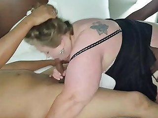 Tag Team Wife With Bbc In Motel Husband Watching Porn 40