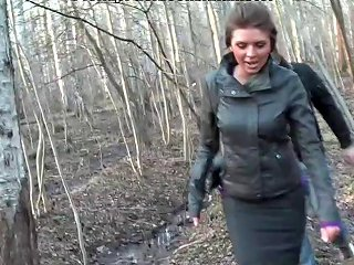 Titted Brunette Fuck In The Woods Free Porn 1c Xhamster