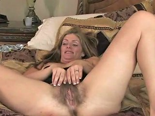 Mommy Is Thrilled By Showing Off Her Big Bush