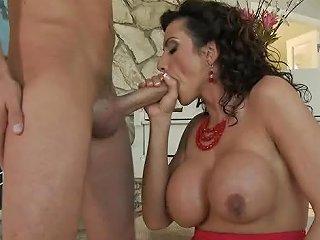 Sexy Latina Piano Teacher Titty Fucks Her Student