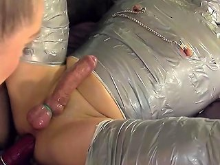 Mummification Mistress Strapon Fucks Sub