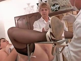 Ffm Chubby French Brunette At The Gynecologist Porn Da