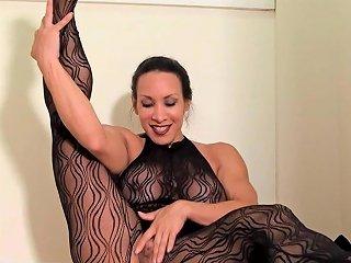 Denise Masino Black Lace Anal Bead Stretching