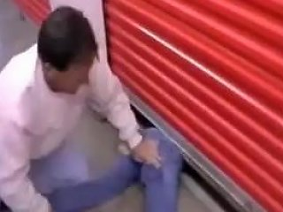 Humiliating Girl Stuck Under The Garage Socks And Shoes Removal