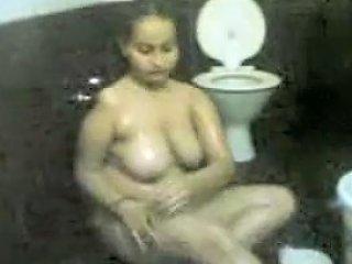 Desi Girl In Shower Soaping