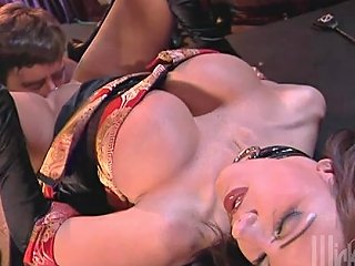 Brittany Andrews Gets Cum On Tits After Her Shaved Twat Got Pricked In Close Up