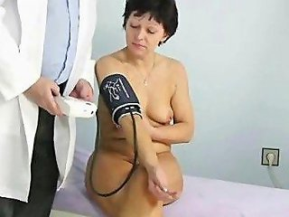 Hairy Mature Gets Her Pussy Checked