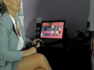Sexy German Secretary Gets Amazing Creampie From Her New Boss
