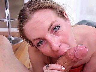Slutty MILF Loves To Suck Cock