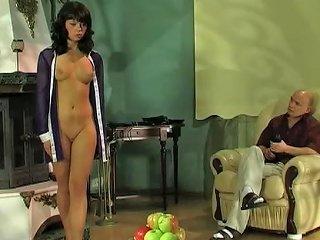 Cruel Master Plays With His Submissive Slave Girl
