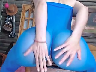This Nympho Whore Is Rubbing And Jumping On Top Of A Huge Dildo