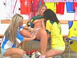 Lesbo Athletes Have Fun