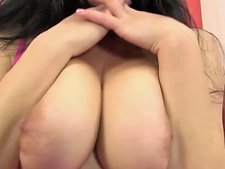 Busty Girl Teases Her Labia Porn Videos
