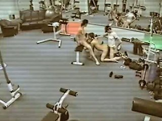Security Cam In The Gym Filming Threesome Fuck