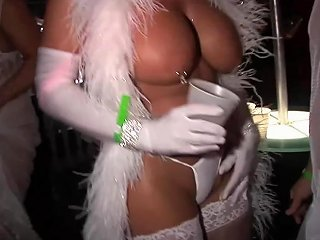 Fantasy Fest Body Painted Milfs In The Street