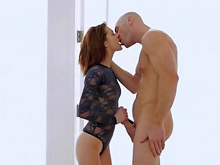 Redhead With Green Eyes Sucks Cock And Gets Her Pussy Licked