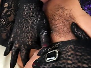 Danica Collins Is Tactile In Her Lace Gloves