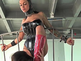 Mild Bdsm Action And Asshole Sucking With Lesbian Veronic Any Porn