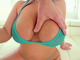 Incredibly Voracious Angela White Gets Lubed And Busy With Giving Stud Titfuck