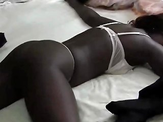 African Girls Sensually Apply Lotion
