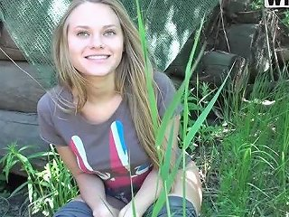 Blonde Teen Rides A Hard Cock After Riding A Horse