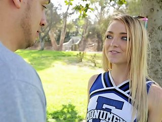 Cutest Cheerleader Ever Has Hot Sex With Her Training Partner