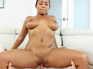 Super Sexy Tanned Bitch Priya Price Gives Unforgettable Titjob And Rides Dick