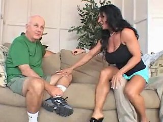 Black Haired Bimbo Enjoys Doing A Fella Who Is Not Her Husband