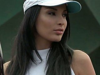 Gorgeous MILF Anissa Kate Gets Her Anus Fucked Right On The Tennis Court