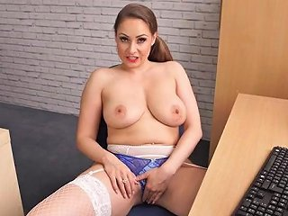 Cleavage Teasing Mommy Lets You Jerk Off To Her