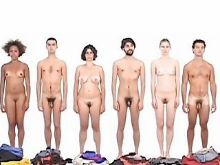 Art 4 Men And 4 Women In A Row Changing Clothes Porn F9