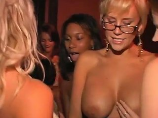 Historical Orgy At A Club With Gorgeous Babes And A Fucking Lucky Guy