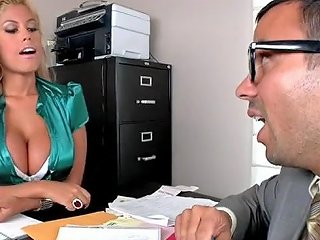 Busty Blonde In Lace Lingerie Gets Fucked Hard In An Office