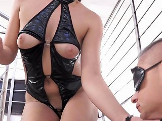 Sexy Latex And High Heels Hottie In A Mask Loves A Kinky Fuck