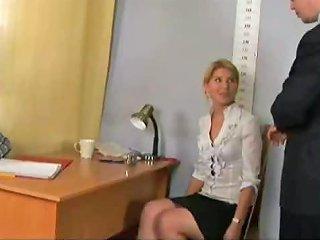 Nude Job Interview For Shy Blonde Secretary Drtuber