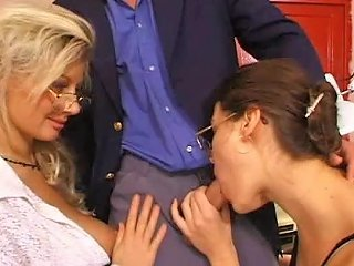 A Big Cock Has A Threesome With Two Extremely Busty Milfs